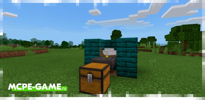 Автоматический сбор ресурсов с генераторов руды из мода Ore Generator в Minecraft