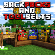 Backpacks & Toolbelts — Мод на рюкзаки и ремень для инструментов