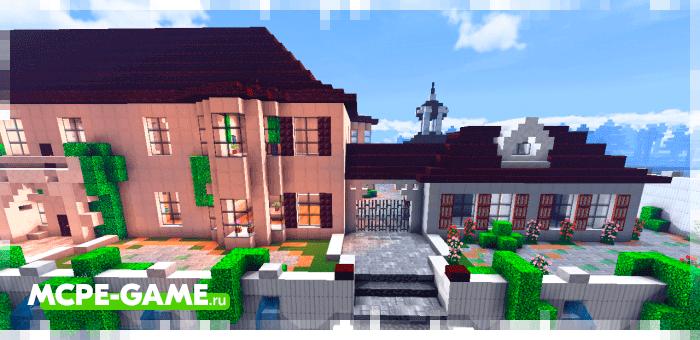 Майнкрафт карта с особняком Beautiful Mansion