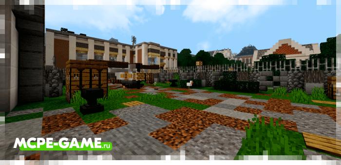 Bloomingdale — Майнкрафт карта с маленьким городом