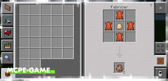 Рецепт крафта яйца призыва ламы с модом Crafting of Egg Generator and Items в Майнкрафт