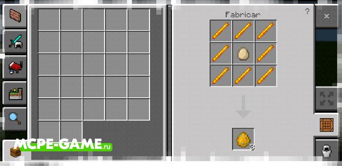 Рецепт крафта яйца призыва ифрита с модом Crafting of Egg Generator and Items в Майнкрафт