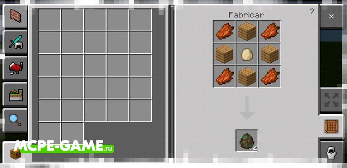 Рецепт крафта яйца призыва зомби-жителя с модом Crafting of Egg Generator and Items в Майнкрафт