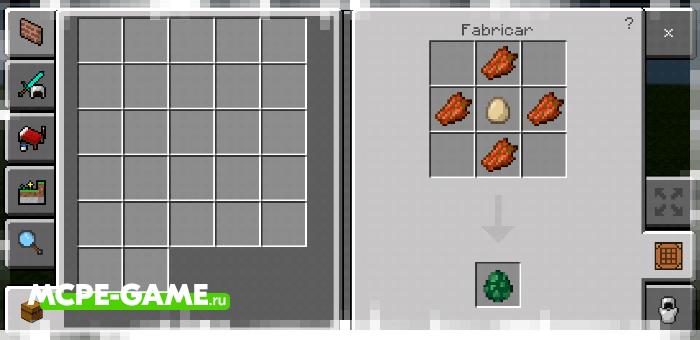 Рецепт крафта яйца призыва зомби-лошади с модом Crafting of Egg Generator and Items в Майнкрафт