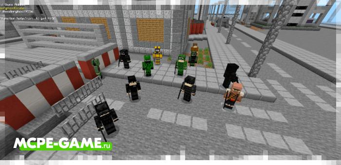 Новые NPC и мобы из мода Detailful Guns для Minecraft