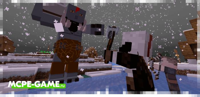 Мод God Of War для Minecraft — Сражайтесь вместе с Кратосом и Атреем