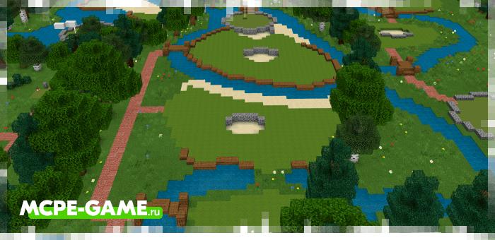 Golf Minigame — Карта с полем для игры в гольф