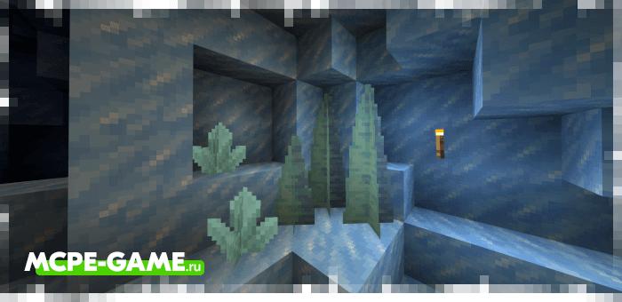 Сталактиты и сталагмиты из мода Ice Caves для Minecraft