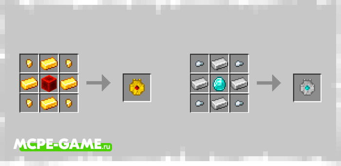 Amulet Crafting Recipes from the Mermaids mod in Minecraft