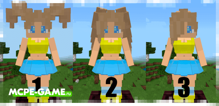 Mermaids hairstyle options in the Mermaids mod in Minecraft