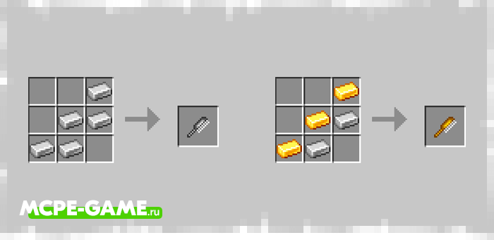 Recipes for crafting combs from the Mermaids mod in Minecraft