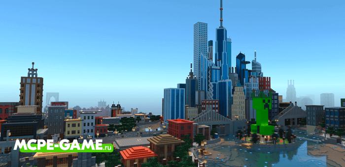 Mine York City — Карта точной копии Нью Йорка в Майнкрафт