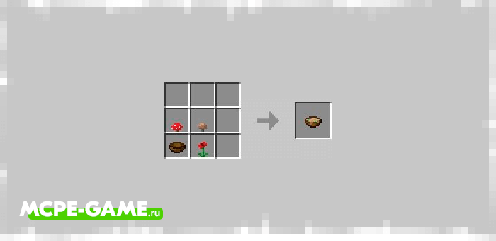 Рецепт крафта подозрительного супа в Майнкрафт 1.13.0.9 [Тестовая версия]