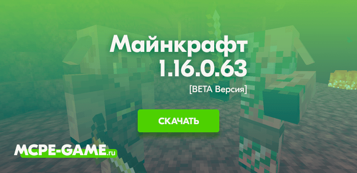 Майнкрафт 1.16.0.63 [Тестовая версия]