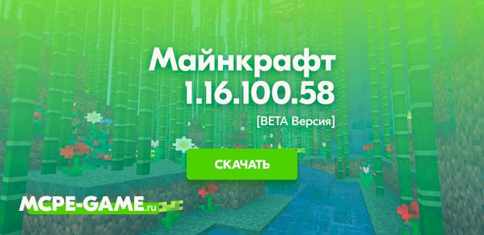 Майнкрафт 1.16.100.58 [Тестовая версия]