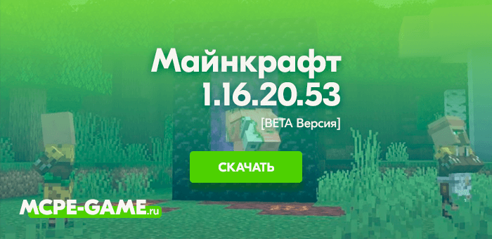 Майнкрафт 1.16.20.53 [Тестовая версия]