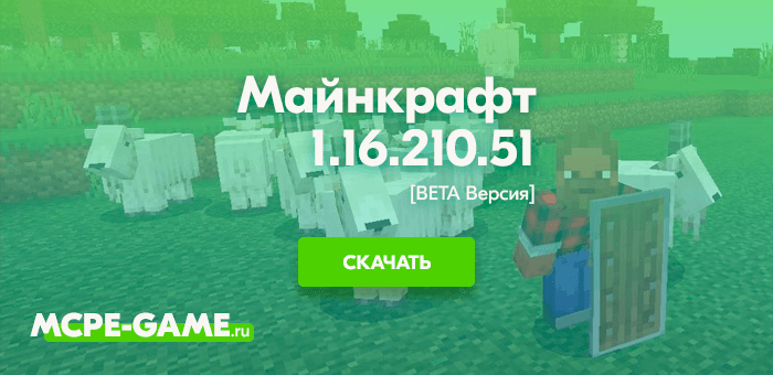 Майнкрафт 1.16.210.51 [Тестовая версия]