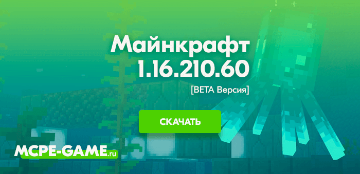 Майнкрафт 1.16.210.60 [Тестовая версия]