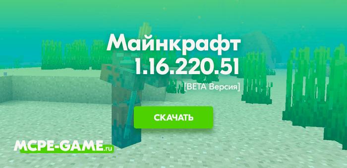 Майнкрафт 1.16.220.51 [Тестовая версия]
