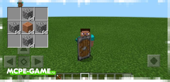 Каменный щит из мода Spartan Shields для Minecraft