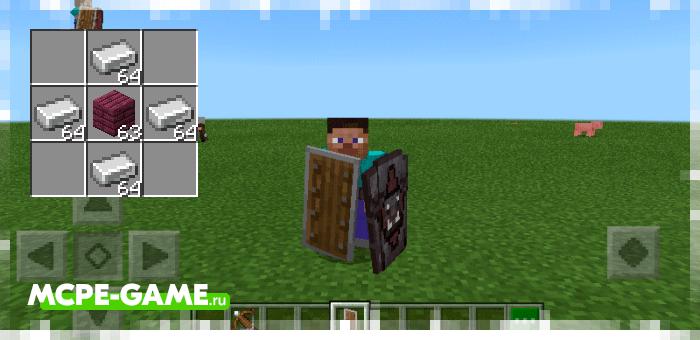 Металлический щит из мода Spartan Shields для Minecraft