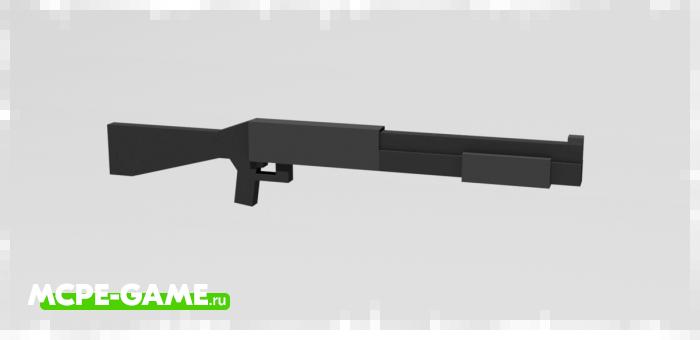 Дробовик M3 из мода Absolute Guns 3D для Minecraft