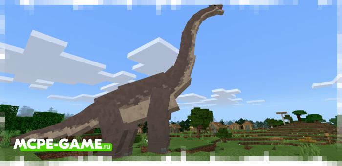 Брахиозавр из мода Craft Cretaceous для Minecraft
