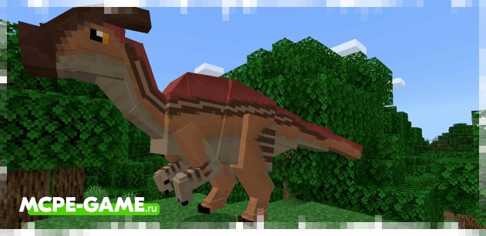 Паразауролофы из мода Craft Cretaceous для Minecraft