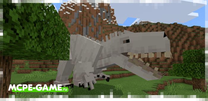 Индоминус рекс из мода Craft Cretaceous для Minecraft