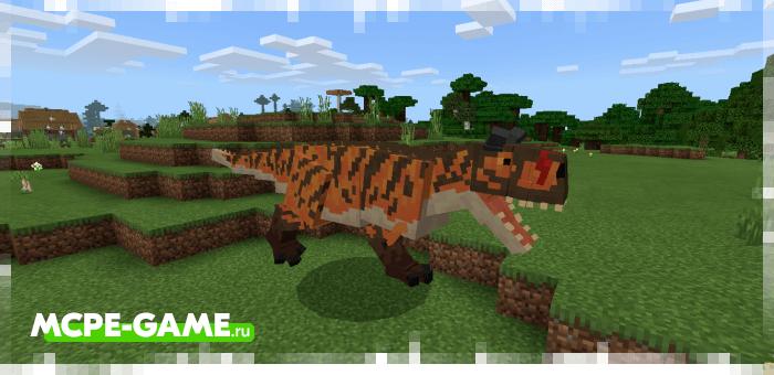 Карнотавр из мода Craft Cretaceous для Minecraft