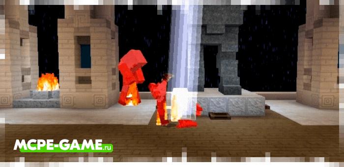 Зевс из мода God Of War для Minecraft