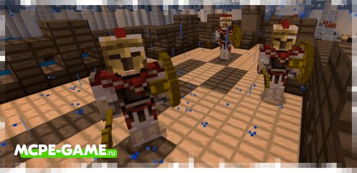 Спартанцы из мода God Of War для Minecraft