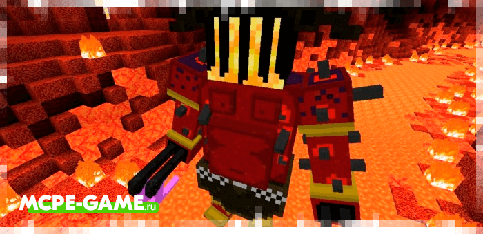 Бог Хадес из мода God Of War для Minecraft