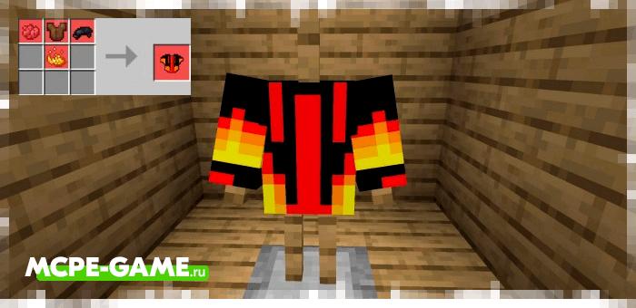 Огненная футболка из мода More Clothes для Minecraft