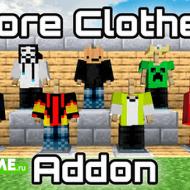 More Clothes — Мод на головные уборы, футболки, штаны и обувь