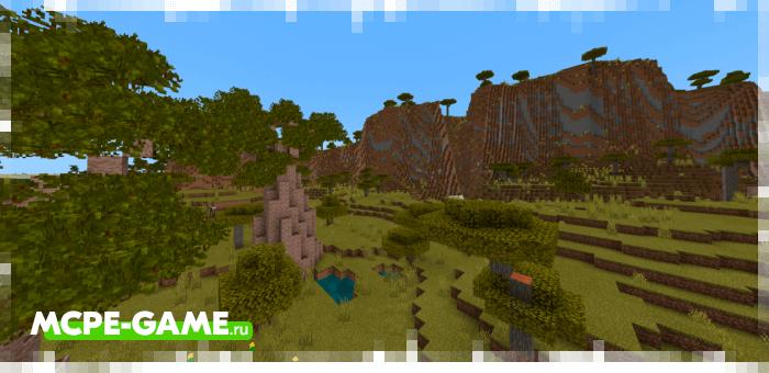Саванна из мода Nature's Spirit для Minecraft