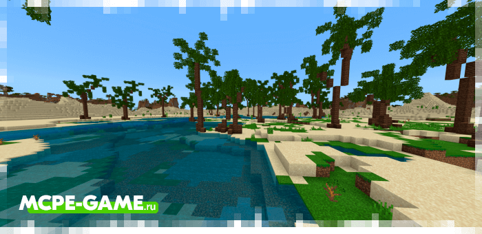 Пустыня из мода Nature's Spirit для Minecraft