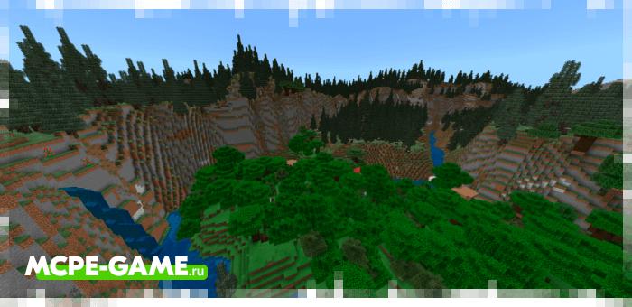 Сосновые скалы из мода Nature's Spirit для Minecraft