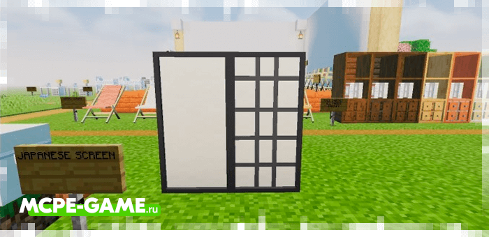 Partitions and paintings from the Redred Craft mod for Minecraft