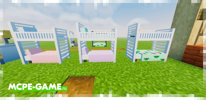 Bunk beds from the Redred Craft mod for Minecraft