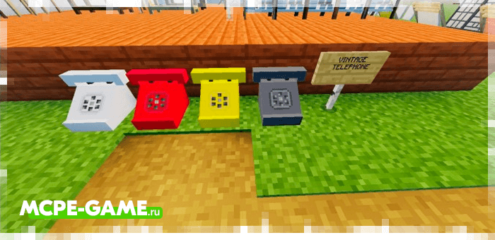 Drum phones from the Redred Craft mod for Minecraft