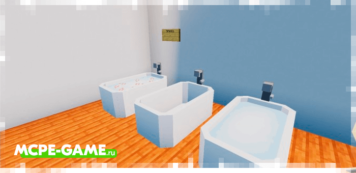 Baths from the Redred Craft mod for Minecraft