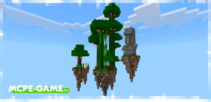 Острова на карте SkyBlock Adventure в Minecraft