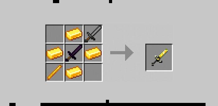 Супер меч из мода Super Swords для Minecraft