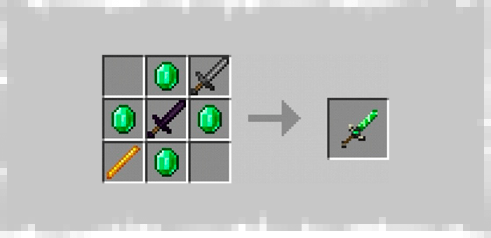 Sword of Strength from the Super Swords mod for Minecraft