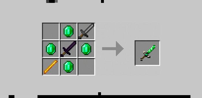 Меч силы из мода Super Swords для Minecraft