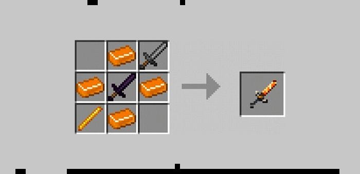Мифический меч из мода Super Swords для Minecraft