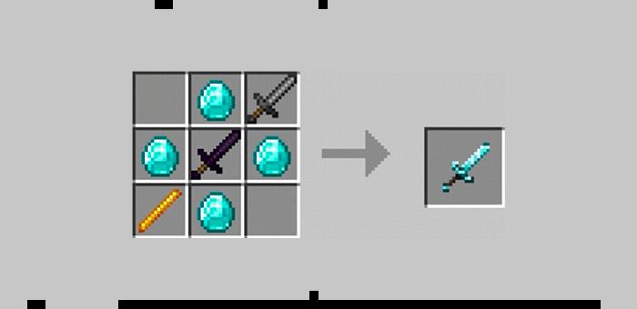 Мега-меч из мода Super Swords для Minecraft
