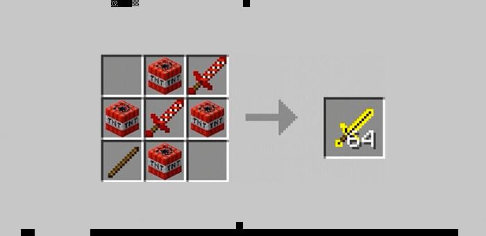 Ядерный меч из мода Super Swords для Minecraft