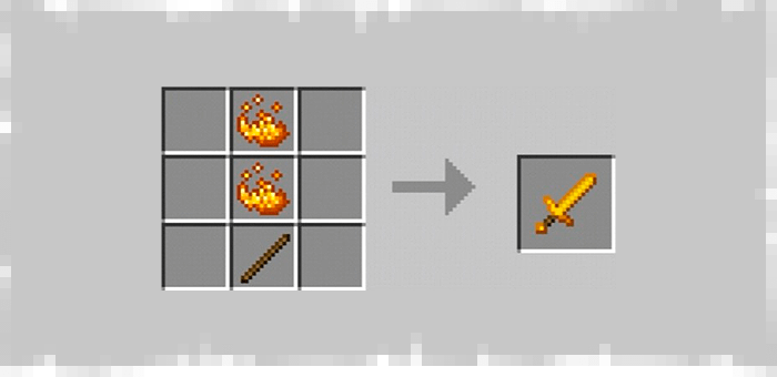 Ifrit Sword from Super Swords mod for Minecraft